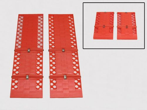 x2 Orange Folding Traction Track Mats - Tyre Grip Mud Rescue Van Snow